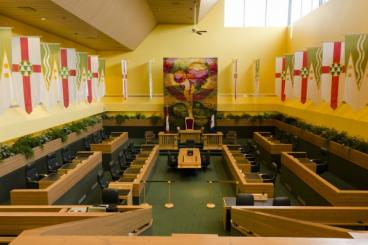 A view inside the Yukon Legislative Assembly